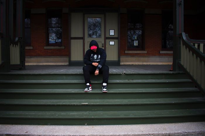 Sittin on a piece of history in Chicago. BHM Clothing Line Blackhistorymonth