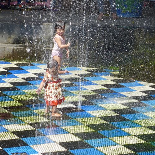 Art Carefree Enjoying Life Enjoyment Fountain Fountain Fountain Fun Fun Kids Kids Being Kids Kids Having Fun Kidsphotography Leisure Activity Occupation Pattern Pattern Pieces Pattern, Texture, Shape And Form Special Special Moment Special👌shot Splashing Together Togetherness Water Wet