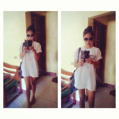 too lazy to play dress-up. goodmorning, off to somewhere :D Comme des fvckdown t-shirt by galeytemple . thankyouuu and 'course theres shorts underneath uyy jeez. hahaha