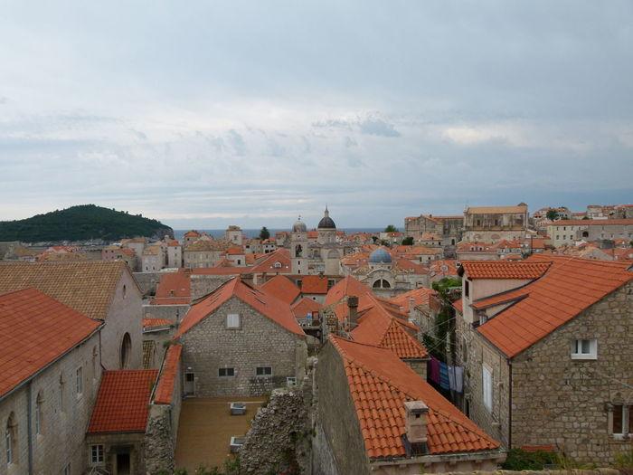 Buildings against sky in old town