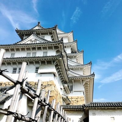 Architecture Belief Building Building Exterior Built Structure Cloud - Sky Day Himeji Castle Low Angle View Nature No People Ornate Outdoors Place Of Worship Religion Sky Spirituality Sunlight Tourism Travel Travel Destinations