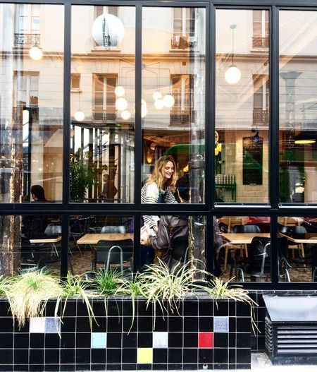 Through the window People Watching Streetphotography Reflection Urban Geometry Urbanlife Paris