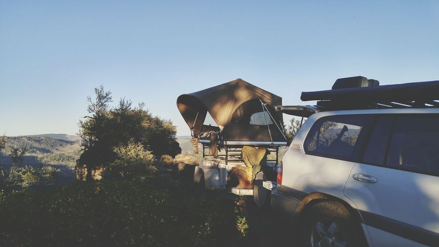 EyeEm Selects Camping Cliffside Overlanding Land Cruiser 100 Series Rooftop Tent