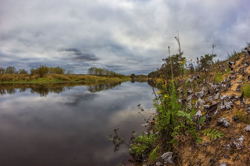 On the river Mologa. Autumn Bank Clouds Day Extreme Weather Fall Landscape Mologa Nature Nature Reserve No People Outdoors Quietly Reflection River Riverside Russia Tree Water Water Reflections Samyang 8mm