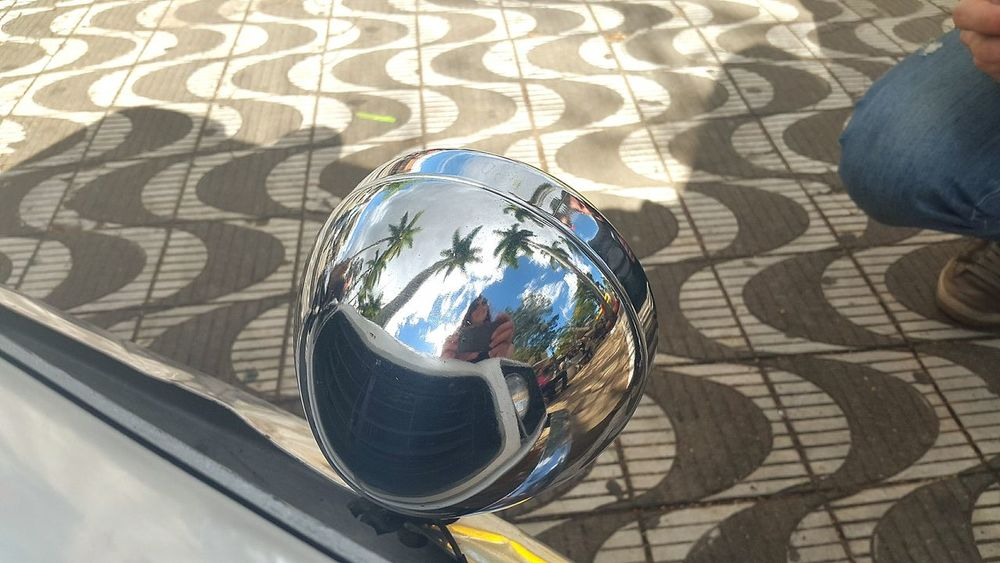High Angle View Shadow Day No People Close-up Outdoors Reflections Car Events Car Car Meeting Rare Car Headlight Reflective Surface Palm Tree