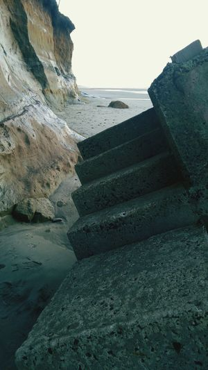Coast Ocean Lines And Shapes Stairs Abandoned Objects Concrete Steps