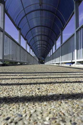 Surface level of railroad station platform