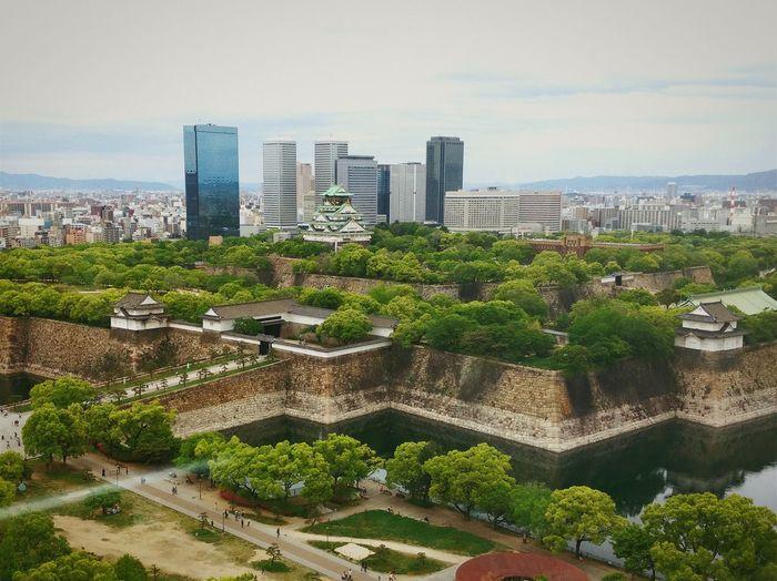 Osaka Castle from above