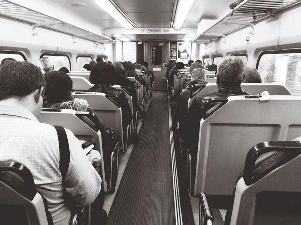 First Eyeem Photo Morning Commute. Philadelphia Philly Train Septa  Blackandwhite Public Transportation AleksaDoesPhilly