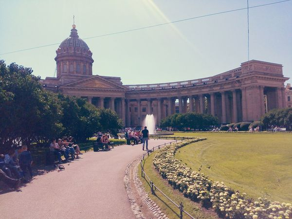 Architecture History Travel Destinations Built Structure Building Exterior Government Dome Museum Ancient Outdoors Architectural Column Politics Sky Large Group Of People Politics And Government Day People Tree Nature Питер Питер ❤️ St. Petersburg Russia Grass