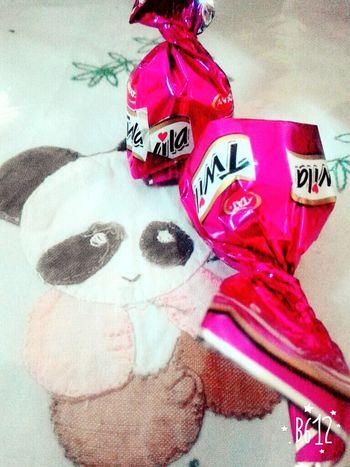 Chocolate 🍫 and panda 🐼 .. Relaxing