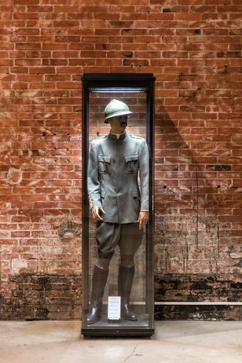 Mannequin Officer Patriotism Soldier Army Soldier Brick Wall Fort Fortress Headwear History Italian Officer Museum One Man Only One Person Standing Travel Destinations Verdun World War 1 World War 1 Memorial