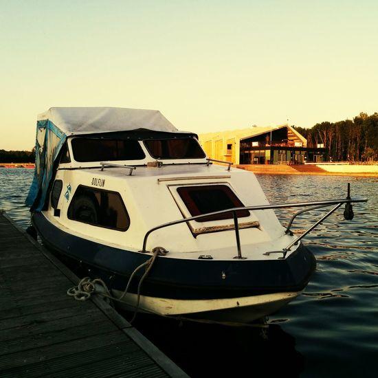 Old mini yacht