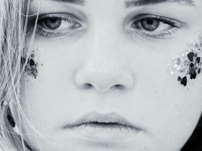 Close-up portrait of a beautiful woman