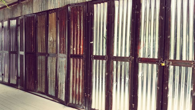 Pattern Backgrounds Built Structure Architecture Corrugated Iron Wall Textures Art Photography Art Deco Wall Art Textured  Building Exterior Architecture Door Lock Doors From The Past Byssnote5