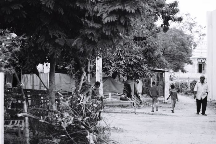 The peaceful life in a village. Tree Real People Growth Built Structure Outdoors Building Exterior Day Men Plant Street Photography Streetphotography Village Life Village Photography Nature Women People Adventures In The City