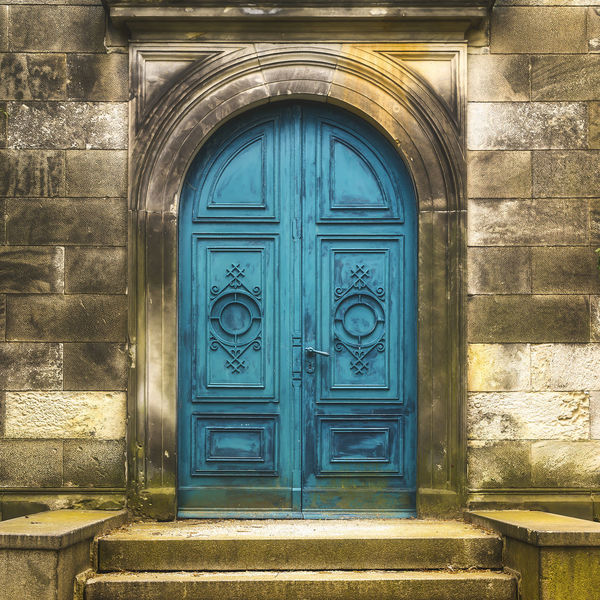 Abandoned Ancient Antique Architecture Building Exterior Cemetery Closed Creepy Door Entrace Grunge Mysterious No People Old Outdoors Scary Tomb Turquoise Vintage