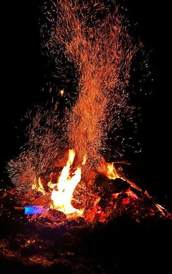 Bonfire Bonfire Night Winter Fire Winter