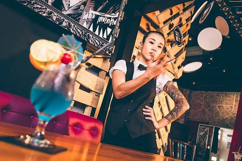 The bartender series 3 Just uploaded a special album for @giffard_liqueurs_syrups on my Facebook. Do check them out 😉 www.facebook.com/Justin.thesuachoo Giffard Bartender Bar Singapore Model Cocktail Tattoo