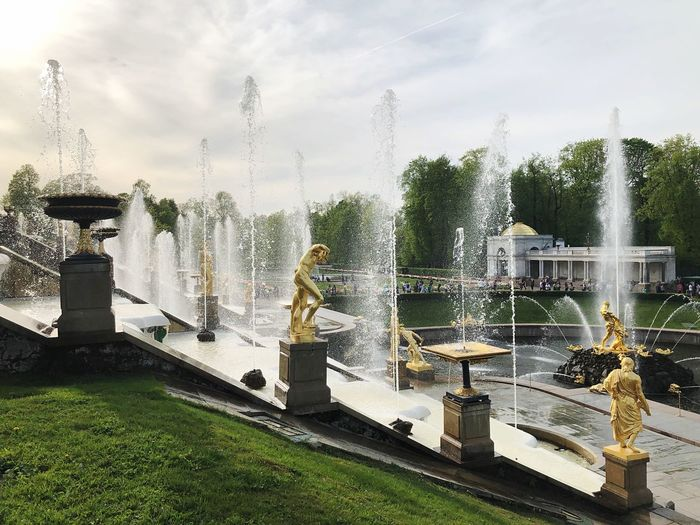 Fountains in