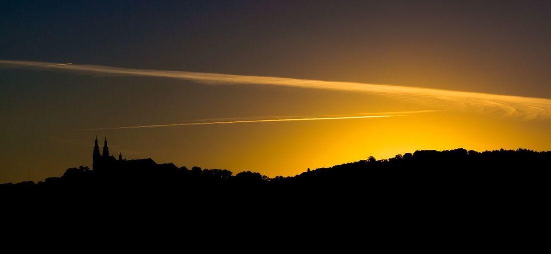 Sonnenuntergang hinter Kloster Banz First Eyeem Photo