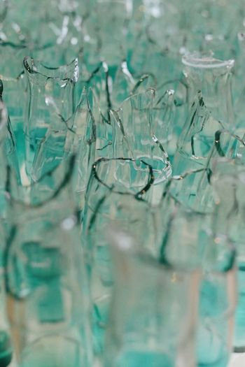 Full frame shot of glass with water