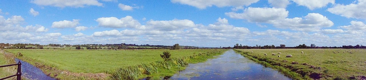 Tranquil Scene Landscape Panoramic Beauty In Nature Non-urban Scene Outdoors Solitude Nature Cloud - Sky Water Field Nature On Your Doorstep Somerset Levels Uk In All Its Glory