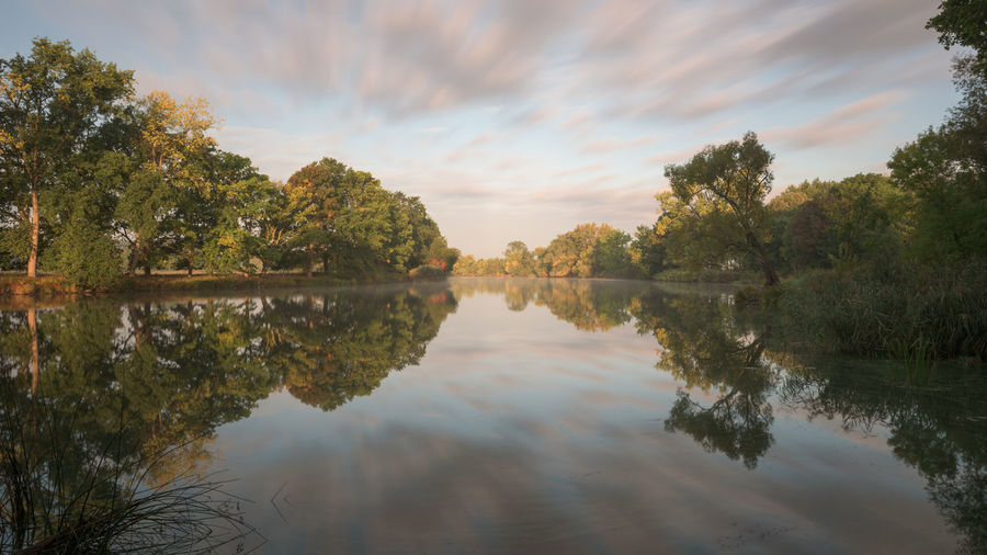 Brandenburg Havel River Havel Im Herbst Havelland Germany Rathenow Beauty In Nature Day Lake Long Exposure Nature No People Outdoors Reflection Scenics Sky Tranquil Scene Tranquility Tree Water