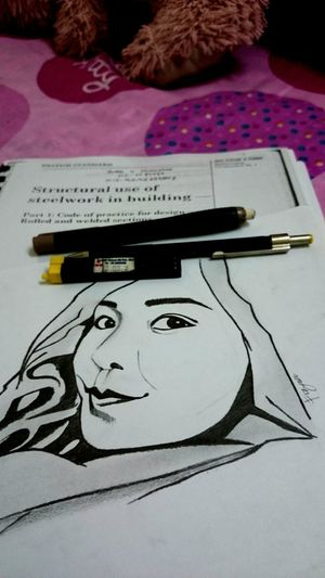 She think she strongest than thunder. And she love her Kujie. Iloveyou Kujieeeeee My Sketch Drawing ArtWork Fizafizafiza Fizaastory Sketching