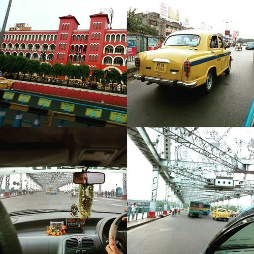 Howrah Railway 🚂 station, Kolkata (Calcutta) Yellow Taxi 🚕 (mostly Ambassador a make of Hindustan Motors) & Howrah Bridge 🌉 Howrah railway station is the oldest station and largest Railway complex in India. It is one of the four intercity railway stations serving the city of Kolkata , the others being Sealdah Station, Shalimar Station and Kolkata railway station. Howrah Bridge is a Cantilever bridge with a suspended span over the Hooghly River in West Bengal , India. India Travel WestBengal Taxi Cab City