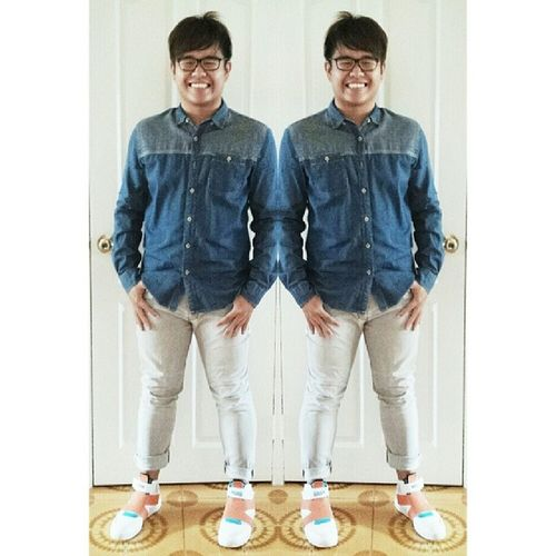 Doesn't hurt to spend some effort Ootd NoEdits  Nofilter DreamChaser fashion denim puma highcutshoes