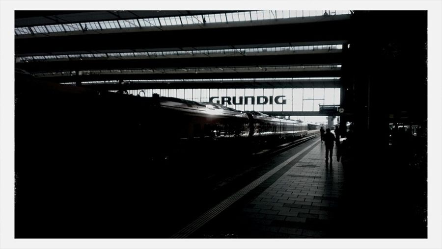 Grundig Blackandwhite Train Station Munich