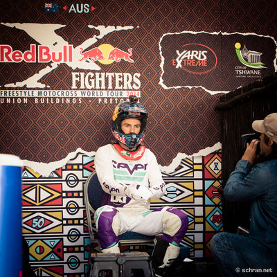 #FMX rider @sheenyfmx getting ready for the #xfighters world tour final in Pretoria 2014. While the shoot was taken #Sheehan was in his focus zone. Within the next secounds he picked up his #Honda #CRF450 and went out to bring everything he has against #KTM rider Dany #Torres. Around 5min later Josh Sheehan was the worthy winner of the event in South Africa and at the same time the new Red Bull X-Fighters World Tour Champion. Check out my homestory on #redbull.de (German Only, Sorry!) in the #motorsport section! Beauty Redefined FMX Honda Josh Sheehan Pit Pretoria Redbull Xfighters Seven Cloth Union Building Xfighters