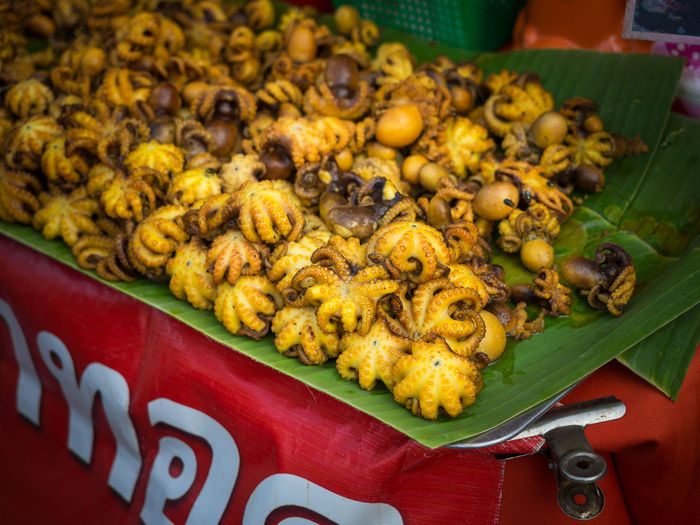 Close-Up Of Octupus For Sale In Market, Bangkok, Thailand