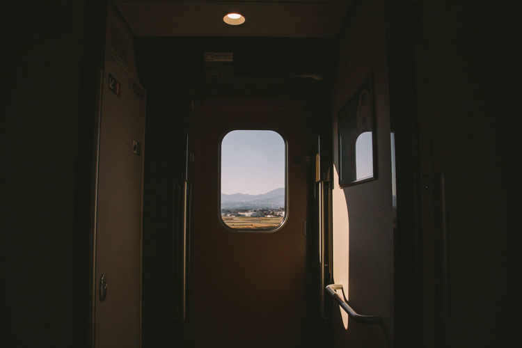 Country side bound Indoors  Door Doorway Open No People Arch Architecture Sky Day Tranquility Travel Photography Landscape Tokyo,Japan Check This Out Rail Transportation Transportation EyeEm Countryside Train