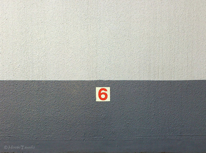6 Numbers Wall Minimalism Supernormal Negative Space