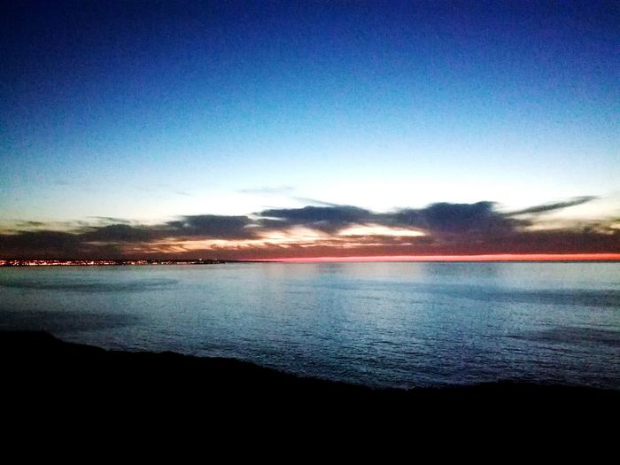 Sea Tranquil Scene Scenics Tranquility Horizon Over Water Calm Seascape Idyllic Blue Sunrise Orange Color Blue Color Non Urban Scene Clouds And Sky Outdoors No People Coastline Normandy Water Sky