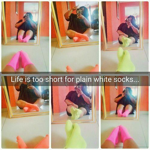 Im random like that lol Mirrorselfie Colourfulsocks So Comfy Craycray EyeEm Fun Randomness Dont Take Life So Serious