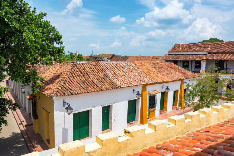Historic colonial buildings in beautiful Mompox, Colombia Architecture Bolivar Cityscape Colombia Downtown Façade Home Magdalena Mompos Mompox  UNESCO World Heritage Site View Building Colonial Heritage Historic Historical House Landmark Old Southamerica Street Town Unesco Urban