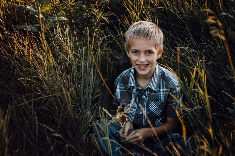 EyeEm Selects 2nd grade. Blond Hair Smiling Happiness Childhood Children Only Grass Child Toothy Smile One Person Portrait Front View People Looking At Camera Outdoors Boys Enjoyment Rural Scene One Boy Only Day Nature