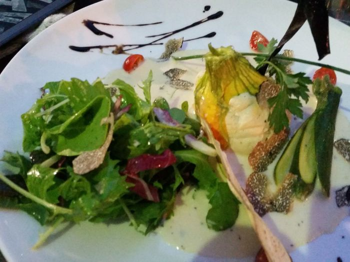 COURGETTE FLOWERS Souffle Food Dish Entree