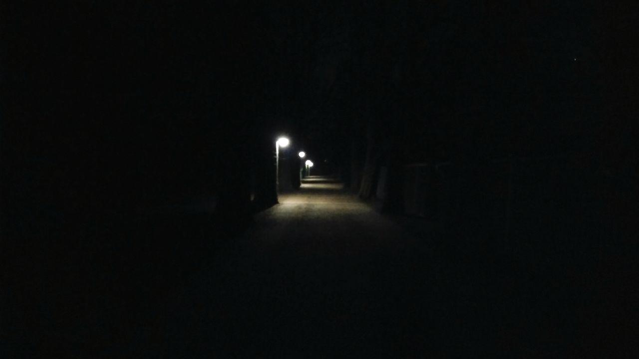 night, illuminated, dark, the way forward, no people, outdoors