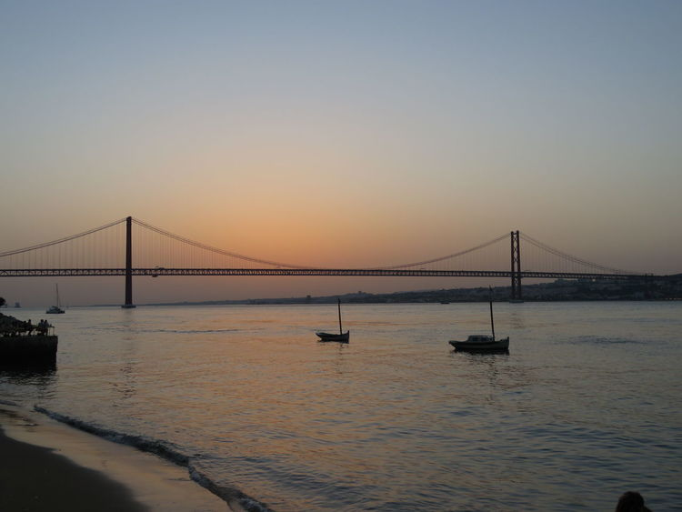 Bridge - Man Made Structure Connection Water Suspension Bridge Transportation Sunset Engineering Built Structure Architecture Clear Sky River Bridge Travel Destinations Coastline Cable-stayed Bridge Waterfront Sea Nature Tourism My Favorite Place Calm People And Places Outdoors Scenics Tranquility