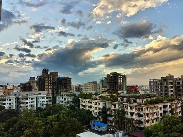 Evening Sky Gulshan Dhaka BeautifulBANGLADESH Nofilter Latergram