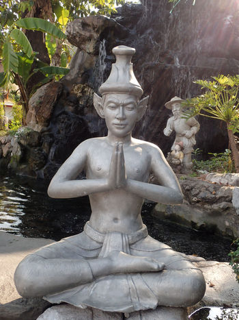 Bangkok Thailand Human Representation Statue Male Likeness Religion Belief Spirituality Art And Craft