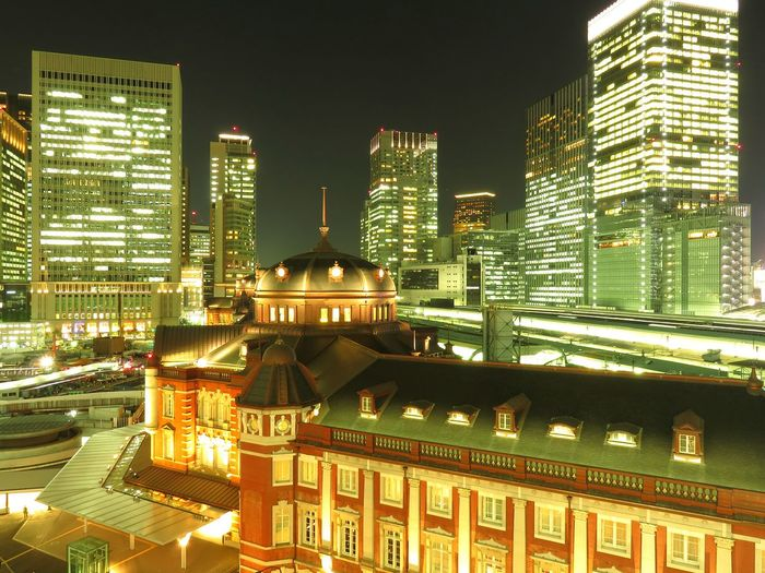 Tokyo Station Tokyostation Japan Lighting Night Nightphotography Nightview Night City City Cityscapes