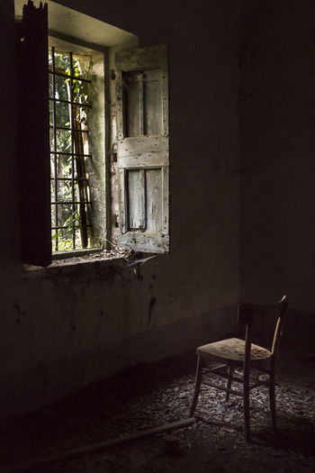 Empty chair in room