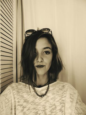 Front View Indoors  Looking At Camera Portrait Day Mind  Check This Out Person Taking Photos Young Adult Young Women Sepiatone Sepiaphoto Sepia Photography September2016 Mind Wondering MindOverMatter Expression Artistique ExpressYourself