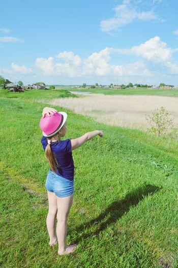 Enjoying Life Summer Beautiful Girl Nature 2014 Child