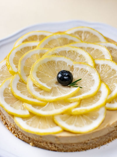 Fruit Food Food And Drink Citrus Fruit Healthy Eating Freshness SLICE Lemon Indoors  Close-up Wellbeing Still Life No People Sweet Food Yellow Sweet High Angle View Plate Berry Fruit Cake Temptation Orange Ripe